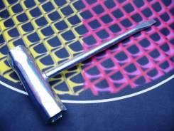 Ключ свечной 16*19 мм комбинированный c отверткой, DDE