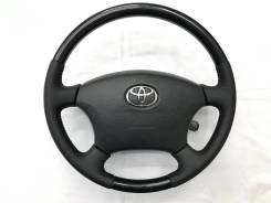 Оригинальный обод руля с подoгревом и косточкой черное дерево Toyota