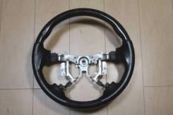 Анатомический обод руля Clazzio с косточкой под чёрное дерево Toyota