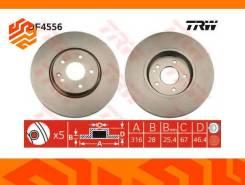 Диск тормозной TRW DF4556 передний