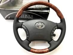 Анатомический обод руля Silk Blaze с косточкой дерево Toyota