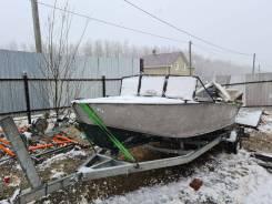"""Продам алюминиевую лодку """"прогресс 4"""" с мотором 4х тактным Ямаха 50"""