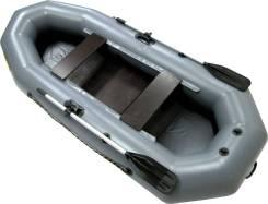 Лодка надувная гребная Leader Компакт 280 серый 2,8м