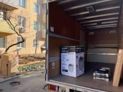 Перевозка домашних вещей и мебели. Переезд. Фургон. Грузчики.