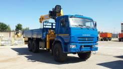 КМУ Камаз 43118-23027-50 (Евро-5) + Soosan SCS736LII верх. упр. +борт сталь 6.2м. (со спалкой)