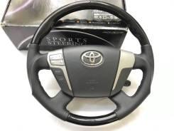 Анатомический обод руля Silk Blaze с чёрной косточкой для Toyota