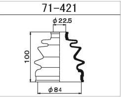Maruichi 71-421 Пыльник ШРУСа внутреннего