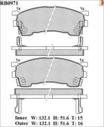 Дисковые тормозные колодки R Brake