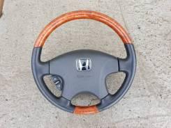 Руль Honda+ дерево+кожа+аирбаг Inspire Saber Torneo Accord Odyssey