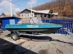 Продается лодка Обь-М с мотором Yamaha 30л. с. и заводским прицепом.