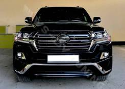 Передняя губа Executive Black Toyota Land Cruiser 200 2016-2021