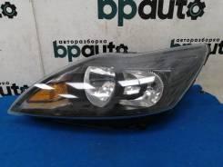 Фара галоген левая, темный отражатель (8M51-13W030-CG / CF/ CE) Ford Focus 2007- 2011