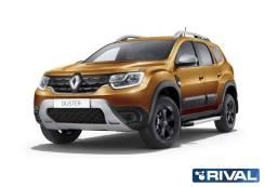 Подножки (пороги) алюминиевые для Renault Duster