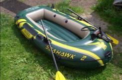 Лодка Seahawk 236х114х41см (руч. нас., пластм. весла)