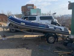 Продам лодку Rib Stormline. Мотор Suzuki 30+ телега, полный комплект!