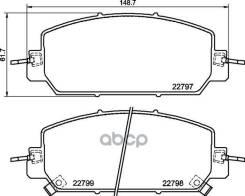 Колодки Тормозные Дисковые   Перед   Honda Clarity Седан (Zc_)/ Cr-V V (Rw_, Rt_) Nisshinbo арт. NP8054