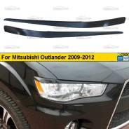 Реснички на фары для Mitsubishi Outlander 2009-2012 рестайлинг