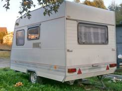 Прицеп кемпер до 750 кг, трёхместный, с палаткой