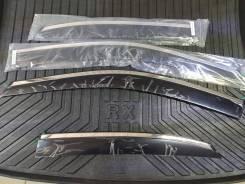 Ветровики с хром полосой из нерж стали Lexus RX270/350/450H 2009-2015