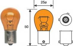 Лампа поворотника (Желтая, смещенные контакты) Fenox (В наличии)