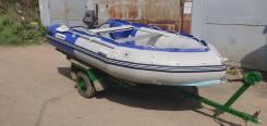 Продам комплект лодка/двигатель/телега