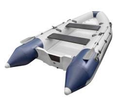 """Лодка РИБ (RIB) Буревестник """"Скаут 380"""", св. серый-т. синий (корпус белы"""
