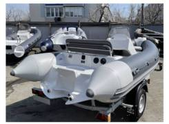 Лодка РИБ (RIB) Буревестник 450, т. серый-св. серый (корпус белый)