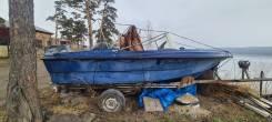 Хорошая пластиковая лодка с ямаховским движком на 50 л/с