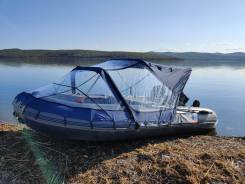 Лодка ПВХ Флагман 450 + Мотор Sea Pro 30 + прицеп
