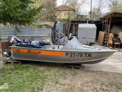 Продам лодку Вельбот 46М с мотором Мекури 40 ЕО