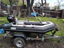 Продаю лодку пвх Baracuda 3.35. высота транца 508 L. AN110L