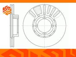 Диск тормозной вентилируемый G-Brake GR02701 передний