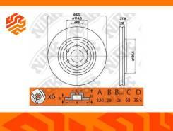 Диск тормозной NIBK RN1416 передний (Япония)