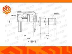 ШРУС внутренний INKO 415016 передний