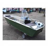 Алюминиевая лодка Wyatboat-390 У с консолью