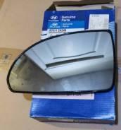 Стекло зеркала левого Hyundai Elantra HD