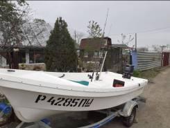 Продам пластиковую лодку Бриз 14 с мотором. Можно по отдельности