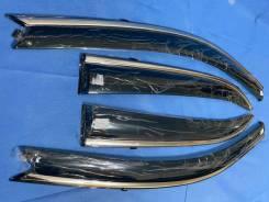 Toyota Corolla 2000-2006 Дефлекторы окон Нерж-молдинг Металл+Крепление