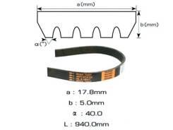 Ремень поликлиновой Masuma 5PK940