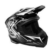 Мото Шлем кроссовый Kioshi Holeshot 801 Черный/ белый