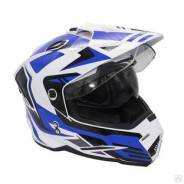 Шлем Эндуро Kioshi Fighter 802 Белый синий