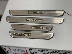 Накладки на порог салона с подсветкой Toyota Corolla Fielder 2006-2012