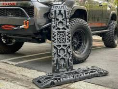 Сэнд-траки (Sand Track) пластиковые усиленные до 10 тонн 110х35 см красные (комплект 2 шт. ) с упором под реечный домкрат