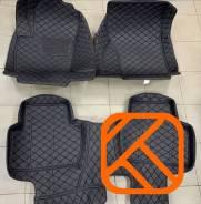 Коврики в салон кожаные 3D Mitsubishi Outlander 2012-2021 левый руль