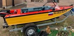 Лодка Днепр с подвесным мотором Mercury 30, на прицепе МЗСА