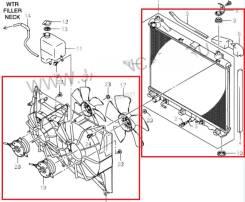 Радиатор двигателя Suzuki Escudo TDA4W J24B AT 68.000км