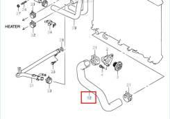 Патрубок радиатора нижний Suzuki Escudo TDA4W J24B 68.000км