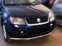 Защита переднего бампера Suzuki Grand Vitara 2005-2008 (c загибами 60