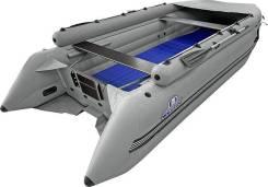 Надувная лодка ПВХ, Шерпа 500 JET, усиление транца, фальшборт, серый
