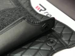 Ковры салона 3D Honda CR-V c12г Левый руль Черные с черной строчкой